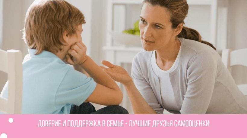 развитие самооценки семья